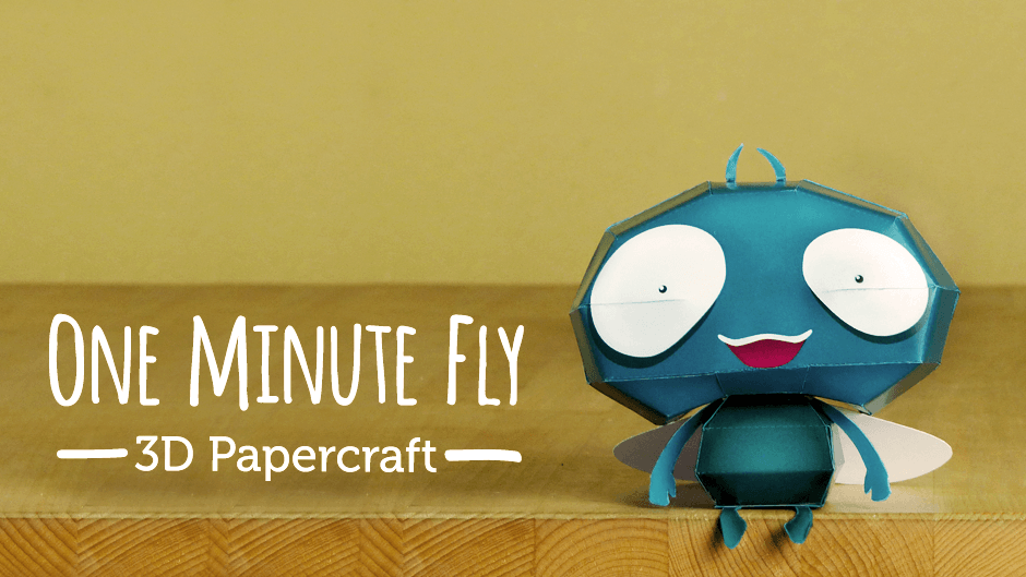One Minute Fly Papercraft